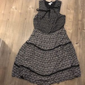 Lauren Conrad size M black white multi print dress
